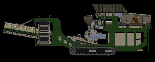 Machine Devarem 250 pour le recyclage des déblais