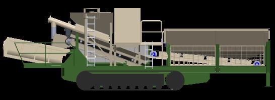 Machine MC500 pour le recyclage des déblais